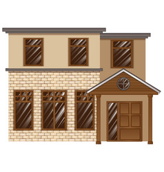 building made with bricks vector image