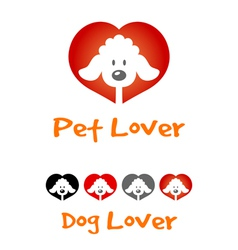 Dog Lover Symbol vector image vector image