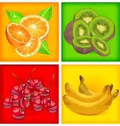 fruit color background vector image vector image