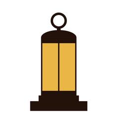 retro lantern icon vector image