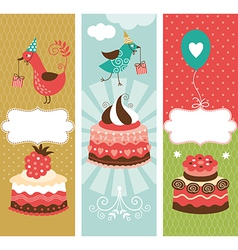 set of holiday vertical banners vector image vector image