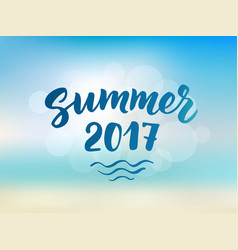 summer 2017 text hand drawn brush lettering vector image vector image
