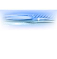 abstract shape blue horizontal vector image vector image