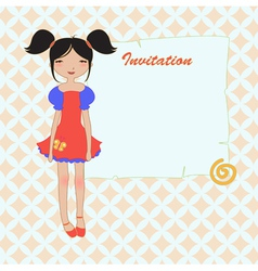 cool invitation frame vector image vector image