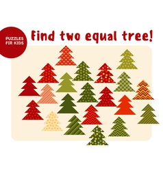 Little Christmas trees in traditional color style vector image