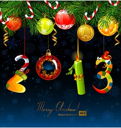numbers of new year vector image