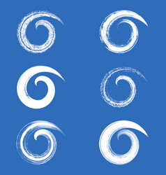 brush strokes spirals vector image vector image