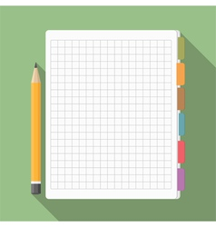 Notebook with Pencil vector image vector image