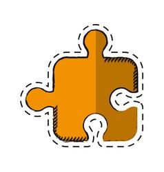 cartoon puzzle strategy creativity abstract vector image vector image