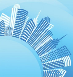 city real estate background vector image vector image