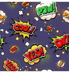 Colorful speech bubbles and explosions in pop art vector image vector image