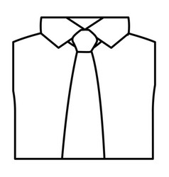 figure tie with shirt icon vector image