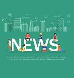 news banner design concept vector image vector image