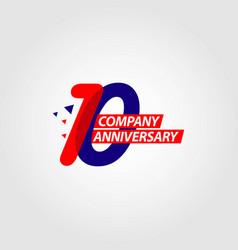 10 year company anniversary template design vector