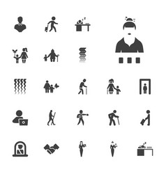22 adult icons vector
