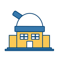 astronomical observatory building vector image