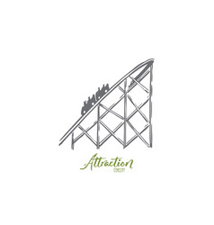 attraction rollercoaster fun ride amusement vector image