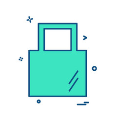 bag icon design vector image