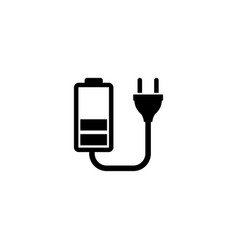 battery charge flat icon vector image