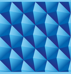 blue triangles seamless pattern vector image