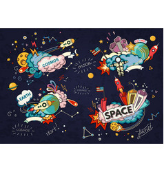 cartoon of space vector image