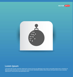 Christmas ball icon - blue sticker button vector