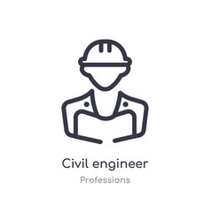 Civil engineer outline icon isolated line from vector