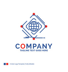 Company name logo design for complex global vector