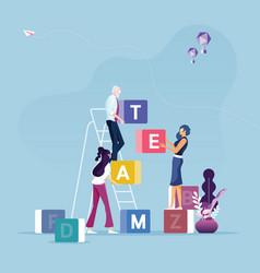 Concept teamwork vector