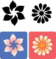 Decorative flowers 1 vector image