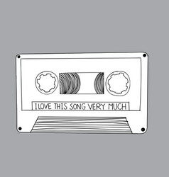draw a doodle listen to the previous song vector image