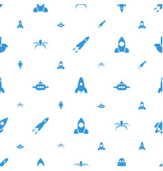 Future icons pattern seamless white background vector
