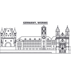 Germany worms line skyline vector
