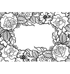 Graphic floral design vector