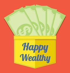 Happy Wealthy vector