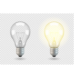 isolated light bulb vector image