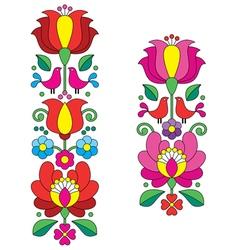 Kalocsai embroidery - Hungarian floral folk art vector