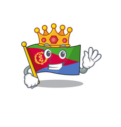 King indonesian flag eritrea on cartoon character vector