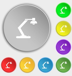 light bulb electricity icon sign Symbols on eight vector image