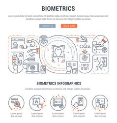 linear banner biometrics vector image
