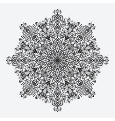 Mandala floral circular monochrome pattern vector