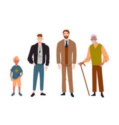 Men different ageschild teenager adult and vector