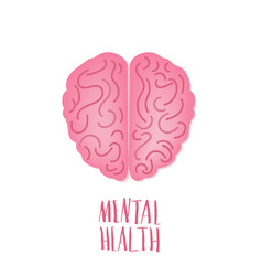 mental health human brain vector image
