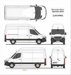 Mercedes sprinter cargo van l2h3 rwd 2018 vector