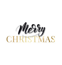 merry christmas label lettering christmas text vector image