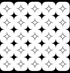 Monochrome seamless geometrical star pattern - vector