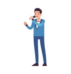 Opera singer performance male classic musician vector
