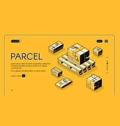 parcel mail logistics delivery vector image