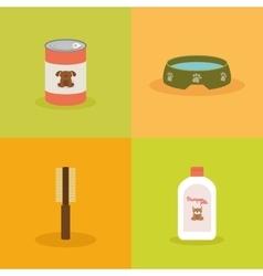Pet shop objects vector