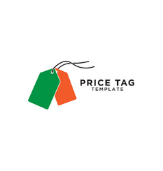 price tag logo template vector image
